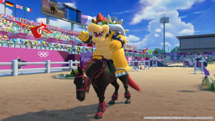 Bowser rides a horse