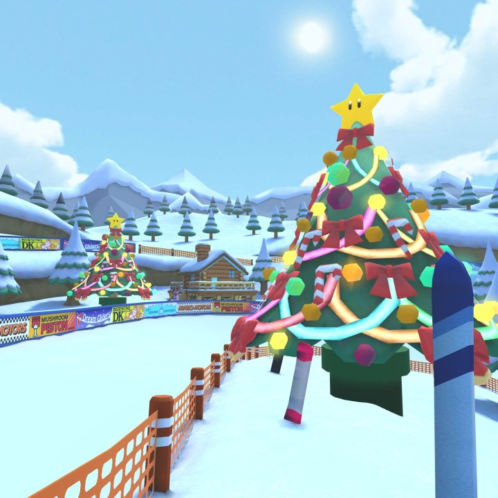 snow has descended in the Mario Kart Tour game