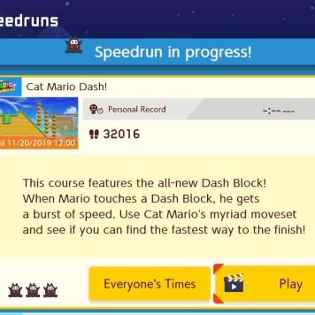 Ninji Speedruns mode