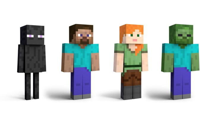 Steve and Alex from Minecraft