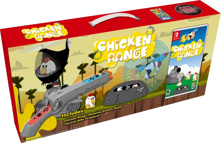 Chicken Range on the Nintendo Switch - Bundle Pack that includes a gun controller