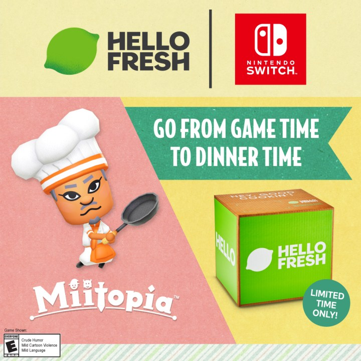 From game time to dinner time with HelloFresh and Miitopia