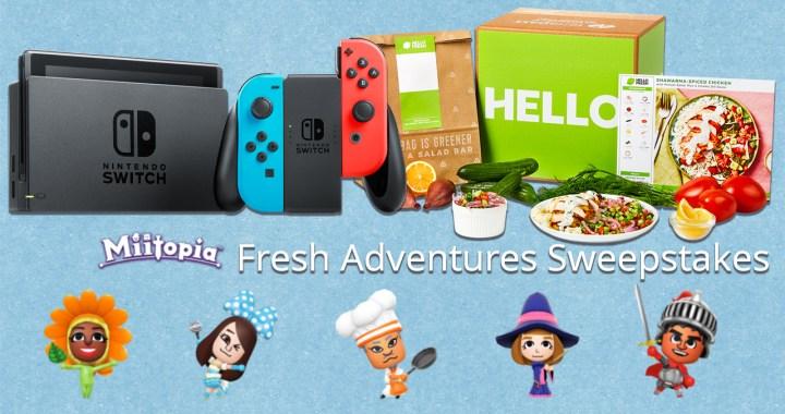 Switch Miitopia HelloFreshAdventuresSweepstakes 01