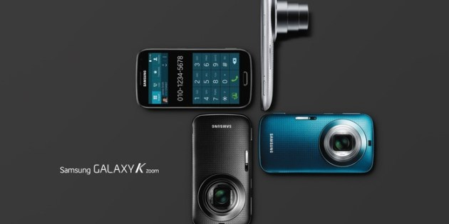 Galaxy K Zoom, smart com super câmera de 20.7 MP