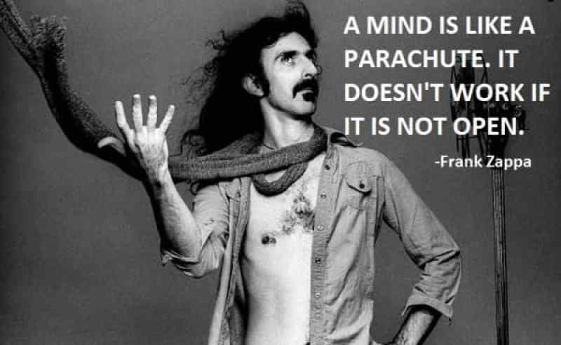 Frank Zappa - the mind is like a parachute