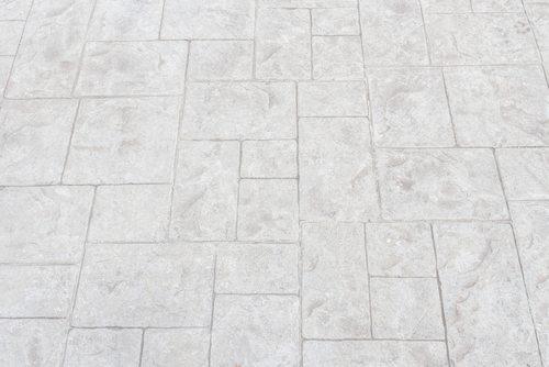 stamped concrete patio driveway