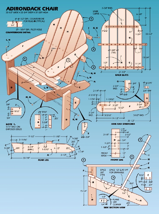 how to build adirondack chairs free plans