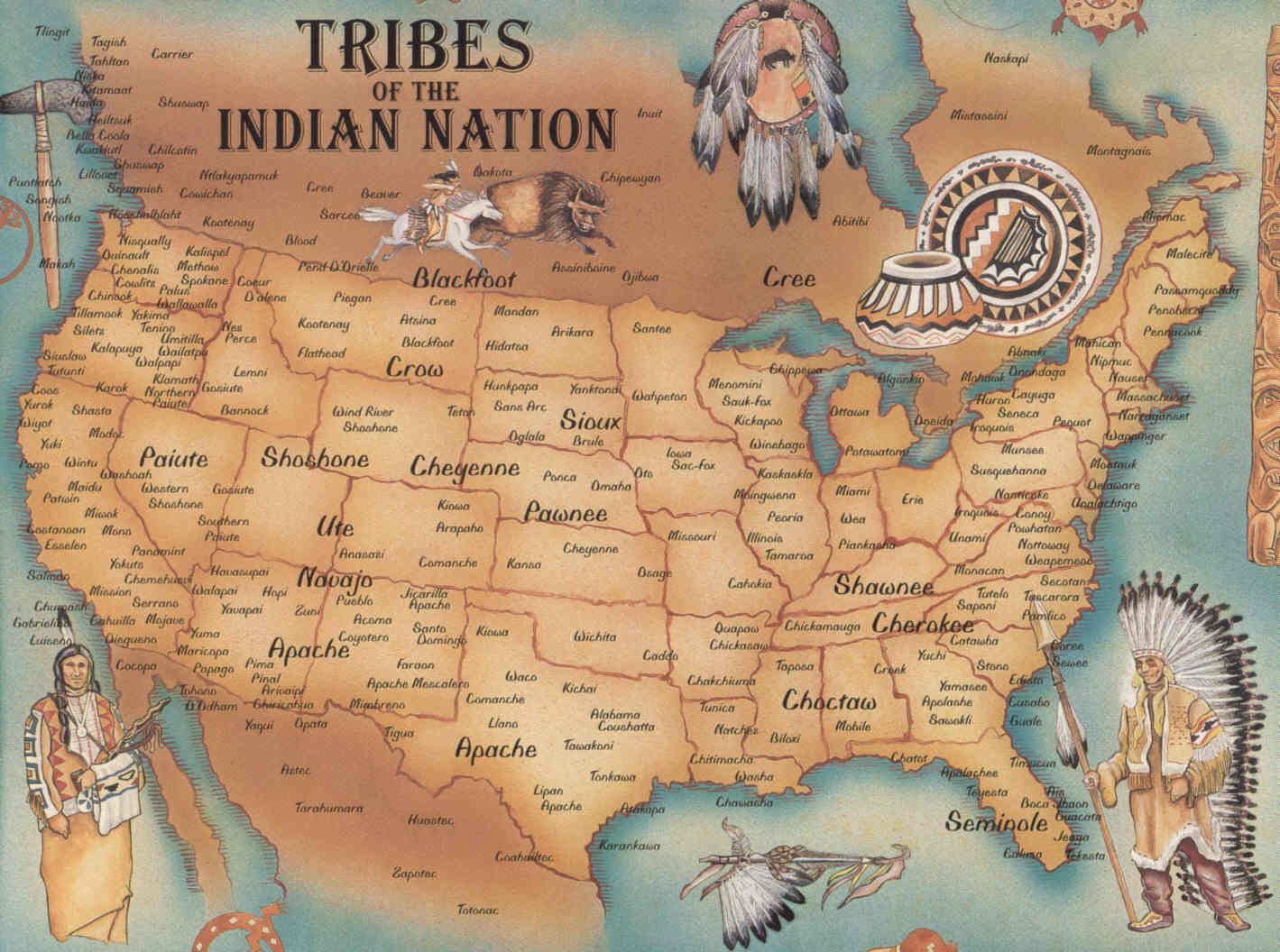 Maps Of Native American Tribes Indian Reservations In The United States Indian Reservation Native Americans And Native American Tribes