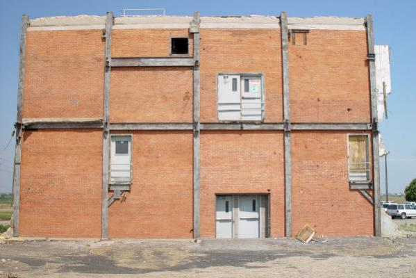 Painted Brick Building