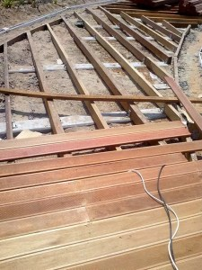 outdoor timber decking