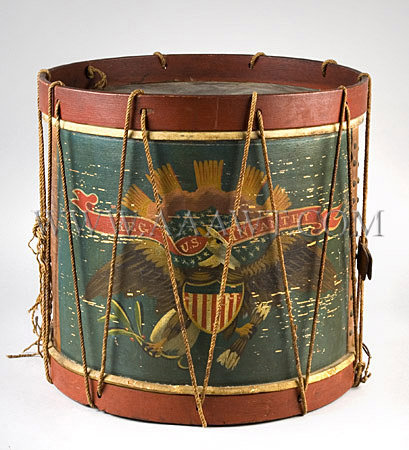 Drum Eagle Civil War Era Infantry Regulation Circa 1864