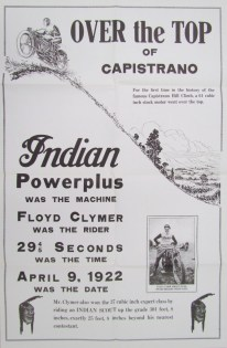 Clymer's victories earned him a spot in Indian's advertising.