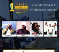 VVIP, Rudebwoy Ranking, Iwan, Friction, grab nomination – Nima Excellence Awards