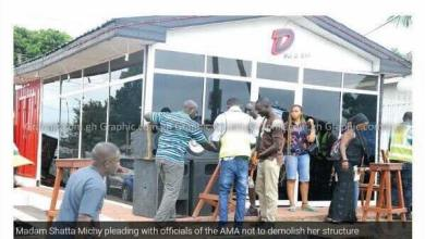 Photo of AMA To Demolish Shatta Michy's Pub
