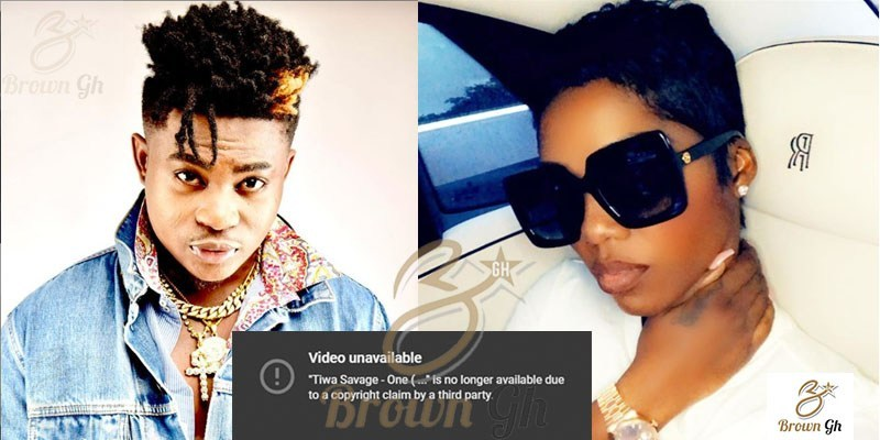 YouTube takes down Tiwa Savage's video 'One' over copyright claims by Danny Young