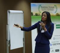 Ghanaian Top Model  Prisca Abah   Storms Sustainable Rice Platform  Conference In Thailand.