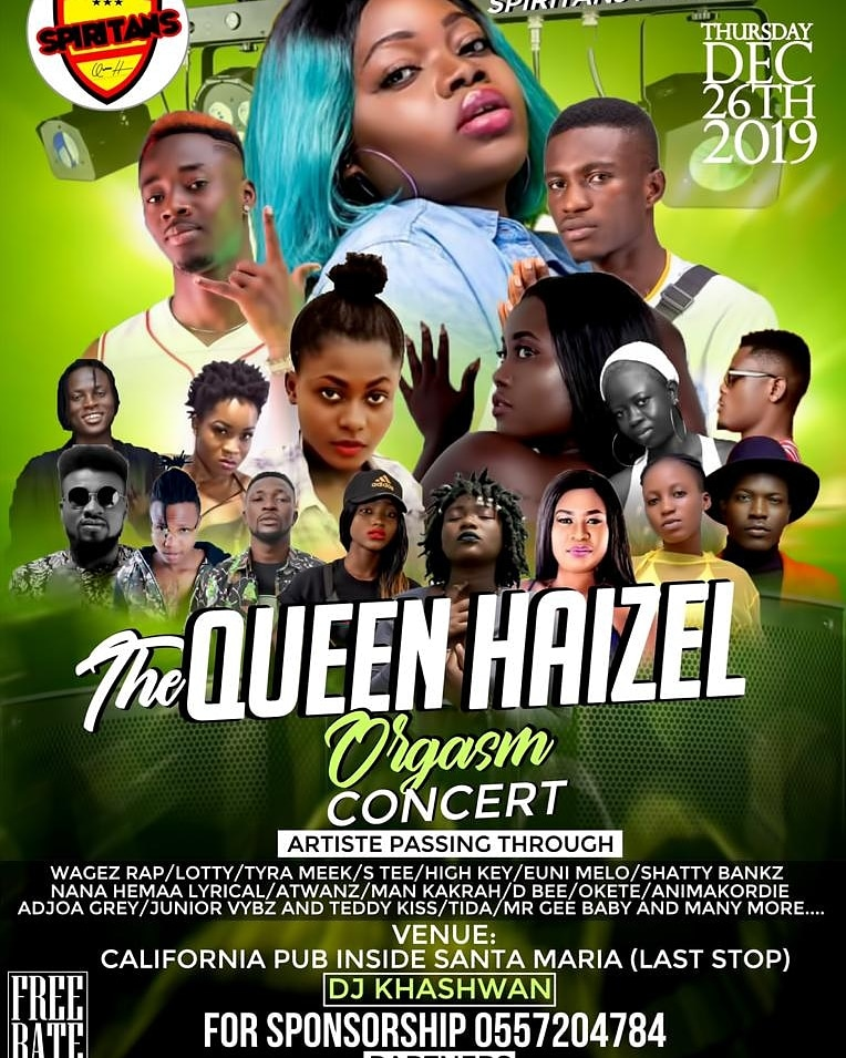 """The """"Queen Haizel Orgasm Concert"""" Slated for 26th December 2019"""
