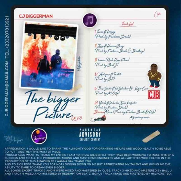 CJ Biggerman – Bigger Picture (Full EP)[ZIP FILE]