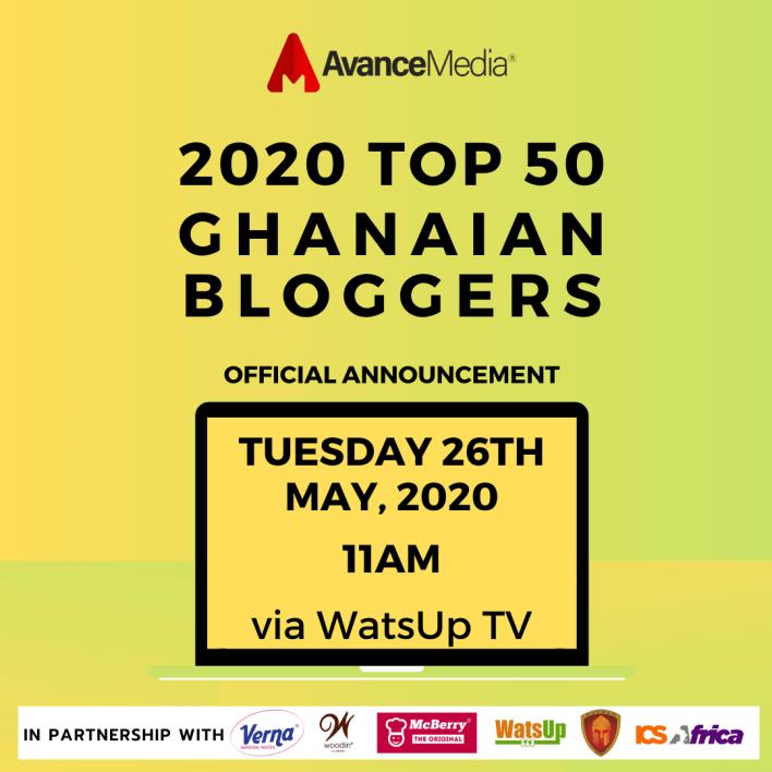 Avance Media partners Woodin & Verna to Release 2020 Top 50 Ghanaian Bloggers Ranking