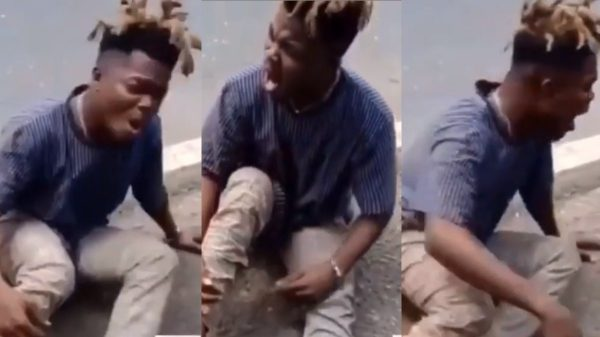 Video of Quamina MP weeping after hearing the death of his father