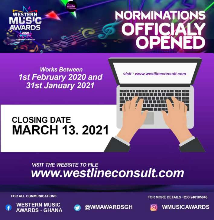 Western Music Awards Opens Nomination For 5th Edition