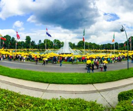 Demo gegen Tihange am Europaplatz