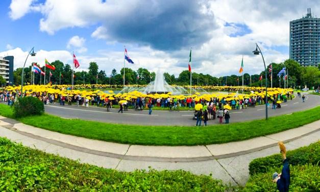 Europaplatz in Gelb