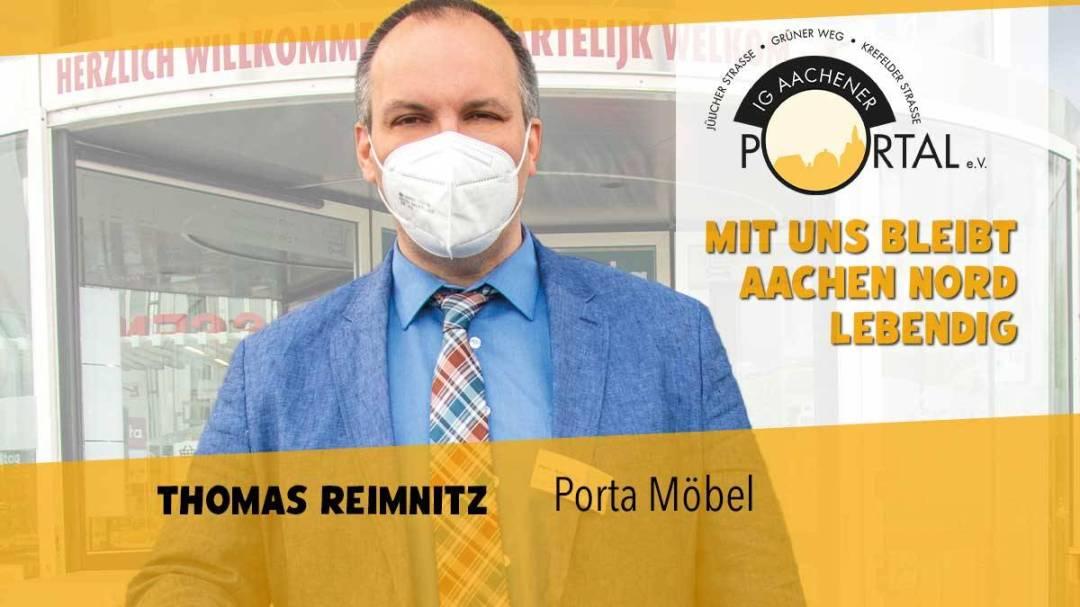 Mit uns bleibt Aachen Nord lebendig mit Thomas Reimnitz von Porta