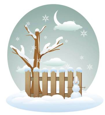 clipart of winter scene