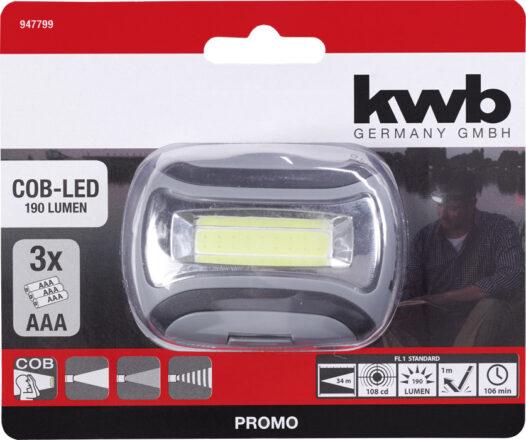 Pandelygte 3 lysfunktioner - COB-LED værktøj