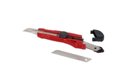 Hobbykniv 18 mm med skruelås, knæk af værktøj