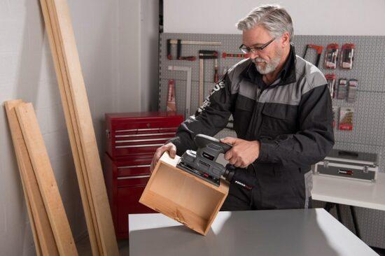 Rystepudser med 5 stk. papir 180 Watt værktøj