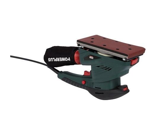 Rystepudser i kuffert med 5 papir 250 W værktøj