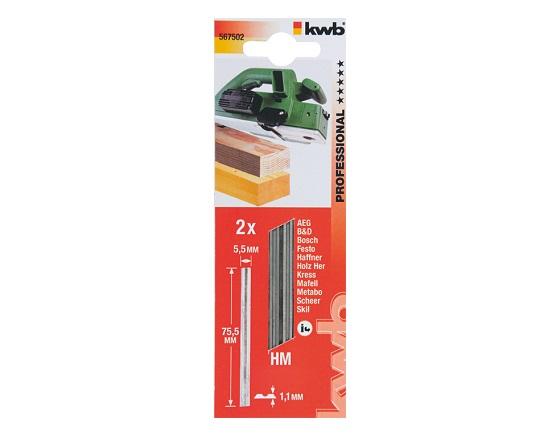 Høvlejern til elhøvle - 75,5 mm værktøj