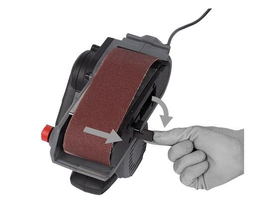 Båndpudser med slibebånd 533 mm 1010 W værktøj