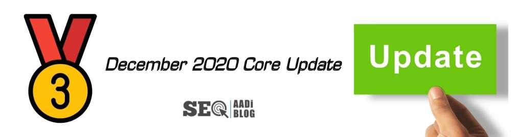 3rd December 2020 core update