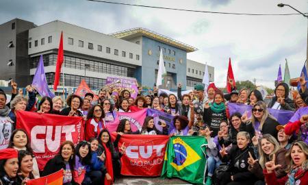 Vigília da CUT em frente à cela de Lula. Foto: Ricardo Stuckert