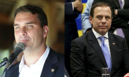 O suplente de Flávio Bolsonaro oferecia jantares que miravam uma candidatura presidencial a Doria. Fotos: Governo do RJ e Wilson Dias/Agência Brasil