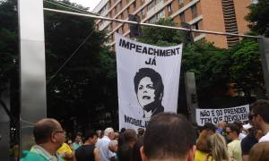 Protesto 'Fora Dilma' em março de 2015 em BH: povo rejeitou nas urnas projeto dos cardeais petistas. Foto: Cedê Silva/A Agência