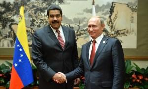 Nicolás Maduro com Putin: Venezuela não queria liderança do Brasil. Foto: Kremlin.ru