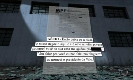 """Aécio a Josley: """"nomeei hoje"""". Foto: Reprodução/TV Globo"""