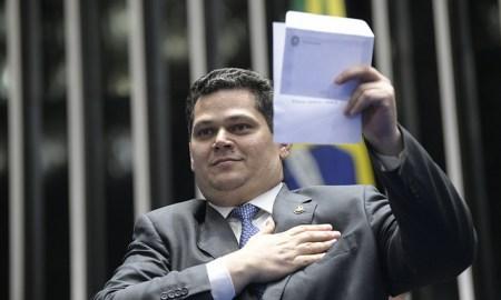 Eleição de Davi Alcolumbre é explicada por fatores como a renovação de integrantes da Casa. Foto: Pedro França/Agência Senado