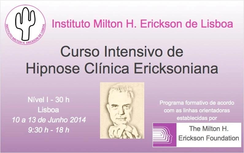 Curso Intensivo de Hipnose Clinica Ericksoniana
