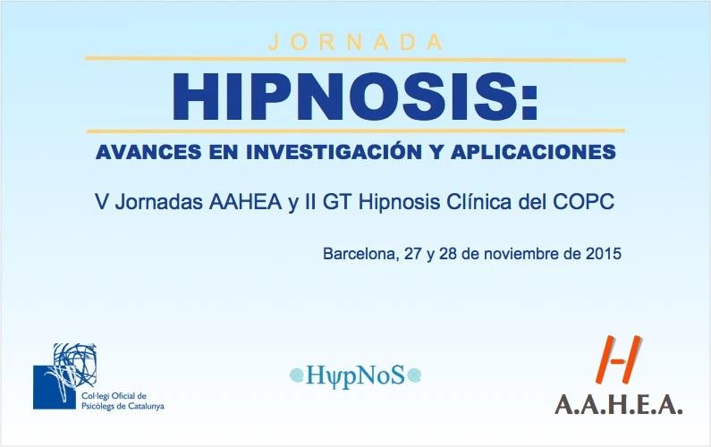 V Jornadas AAHEA y II GT Hipnosis Clínica del COPC