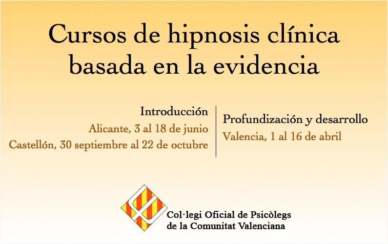Cursos de hipnosis clínica en Valencia