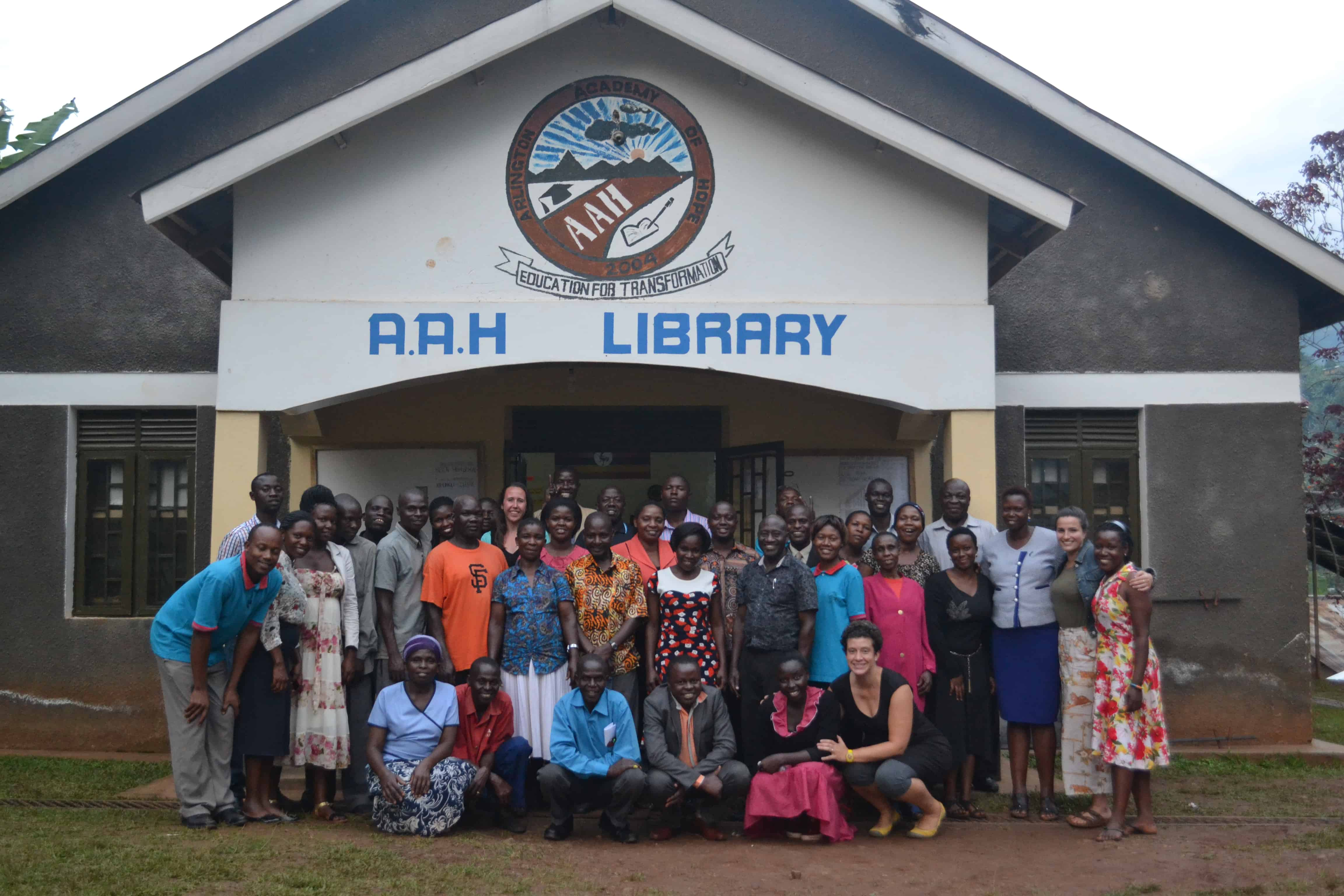 aah staff in front of aah library