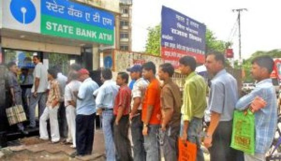 banks atms mobbed for third day