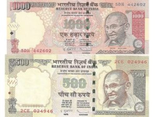 500 and 1000 notes will be banned completely on 10 december