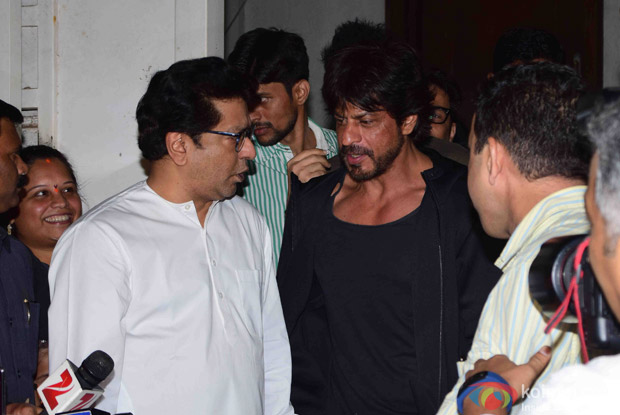 before release of movie raees shah rukh khan met raj thackrey