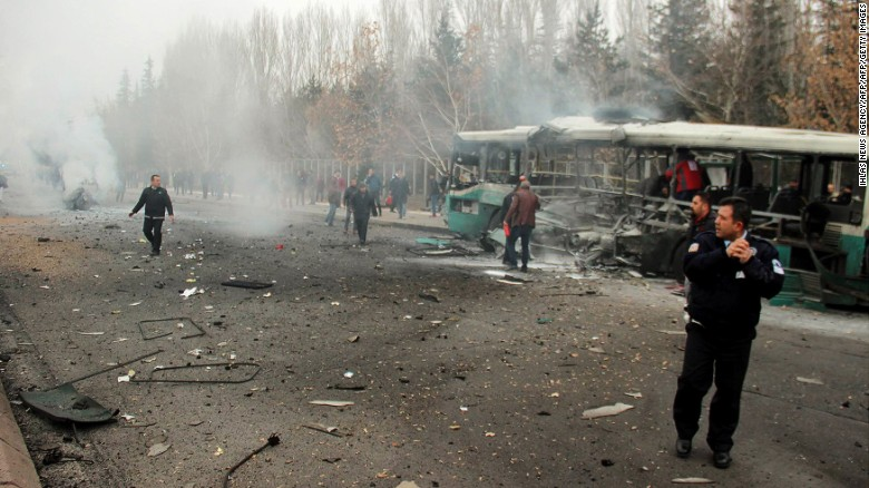 13 soldiers killed and 50 soldiers wounded due to blast in turkey